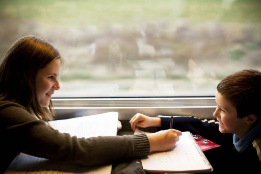 Illustration enfants TGV